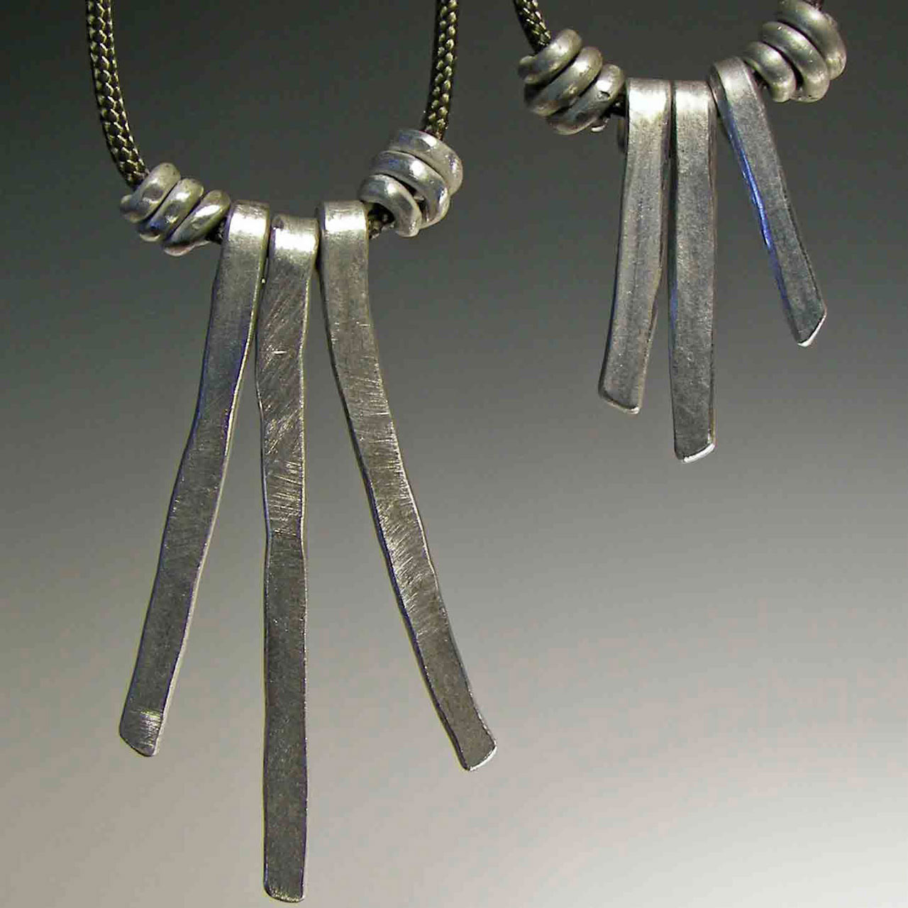 Aluminum Strands Earrings by Mckenna Hallett