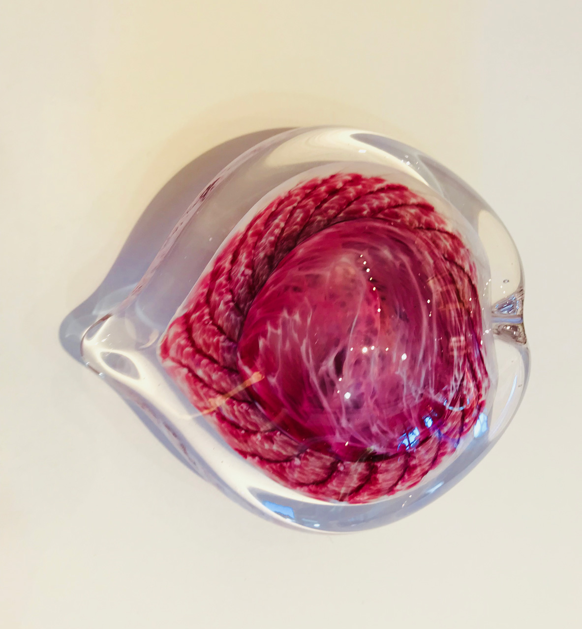 Large Glass Heart by Jim Graper in pink