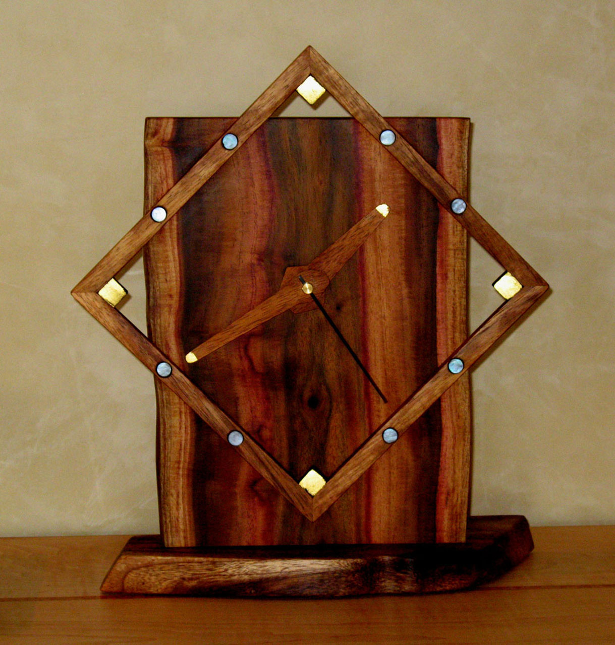 Ali`i Square Clock by Gary Forest