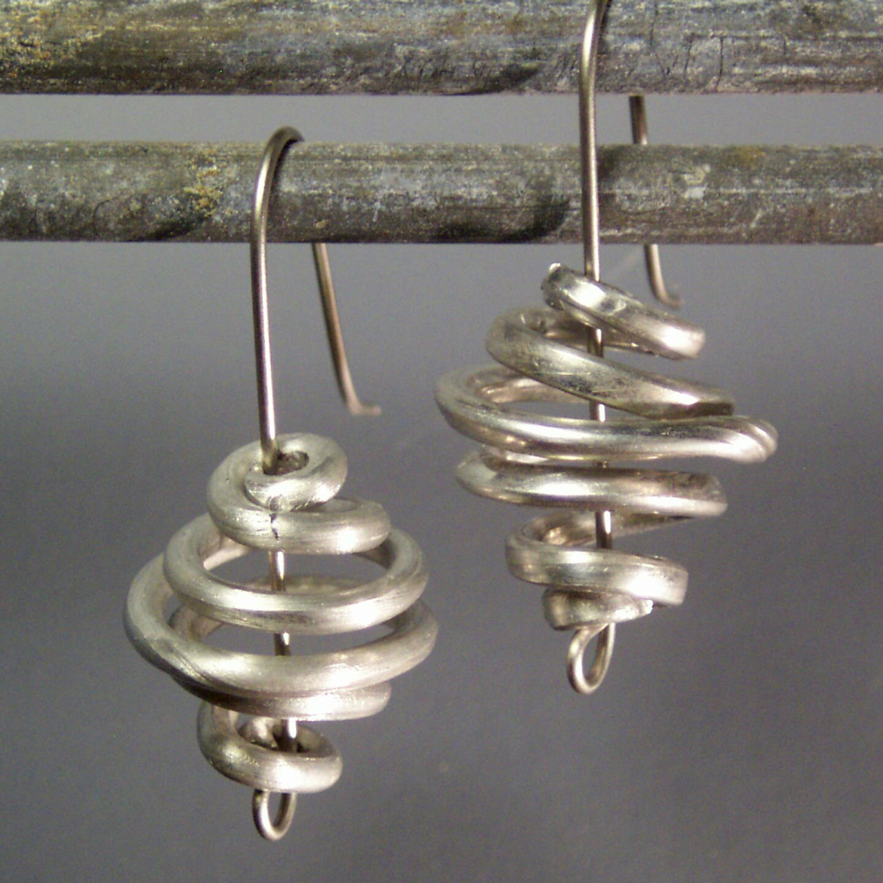 Aluminum Spin Earrings by Mckenna Hallett