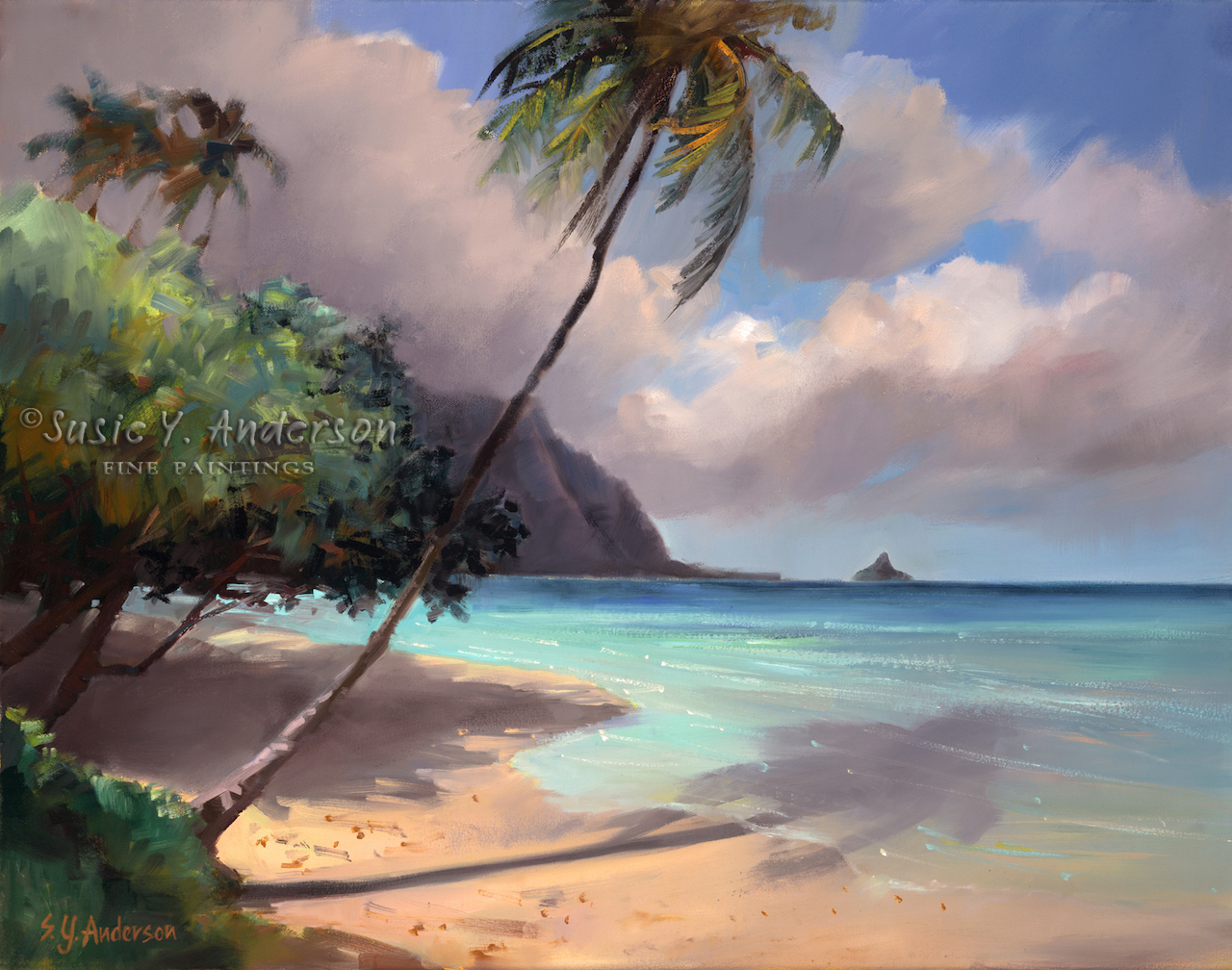 Azure Shore by Susie Anderson palms and beach in Hawaii