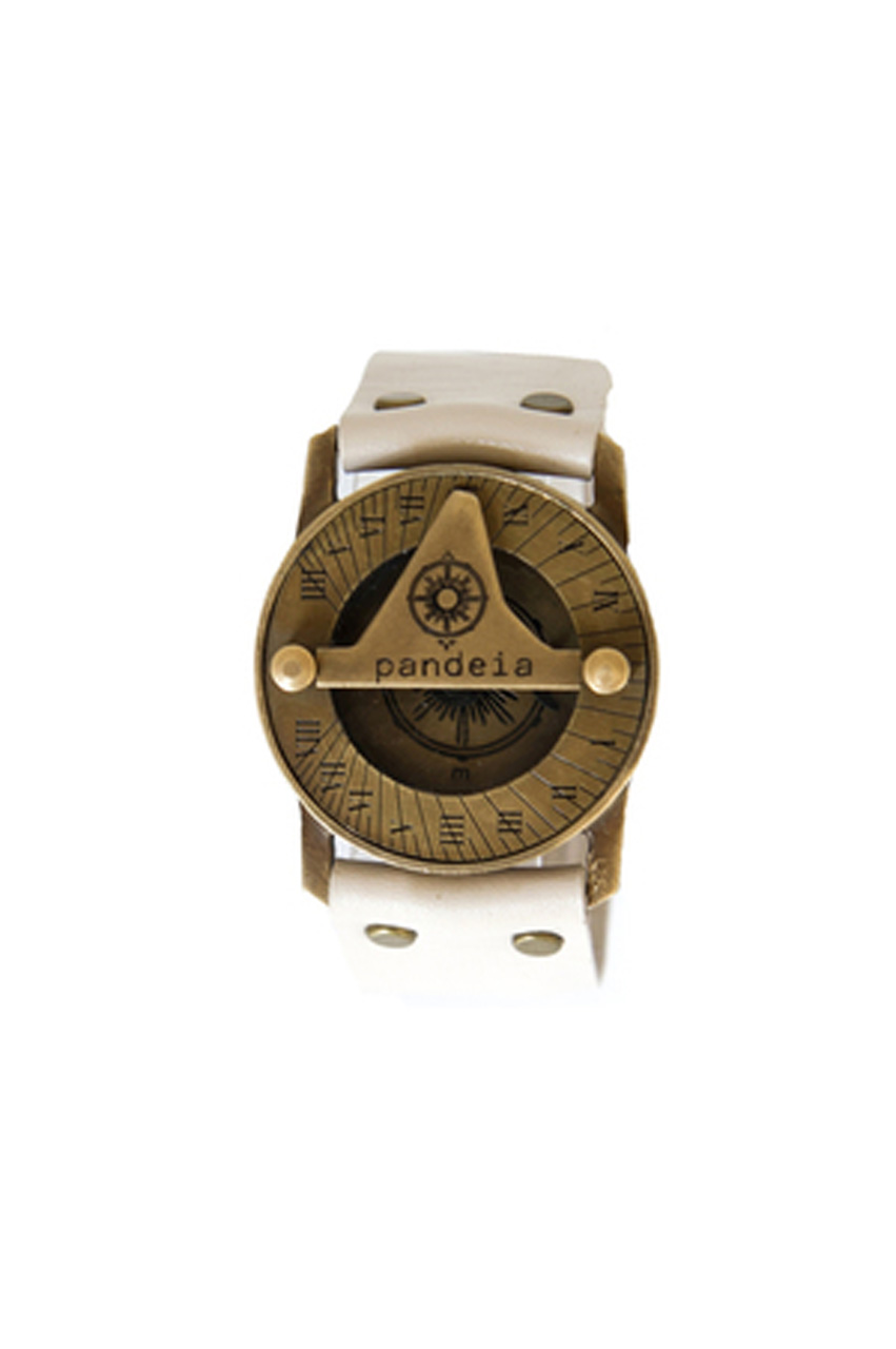 Bone compass sundial watch