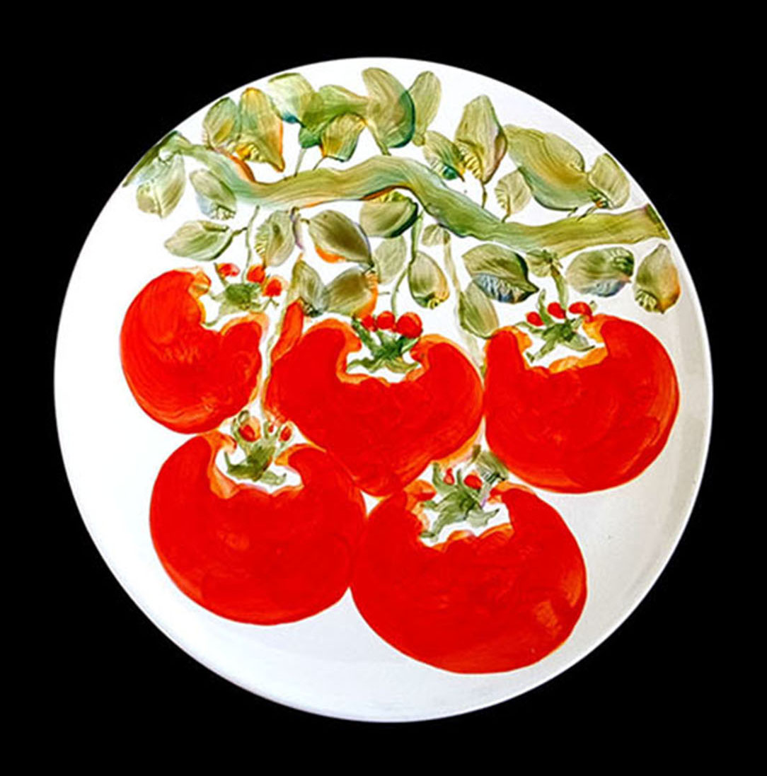 Dinner Plate by Michael Lee tomato design