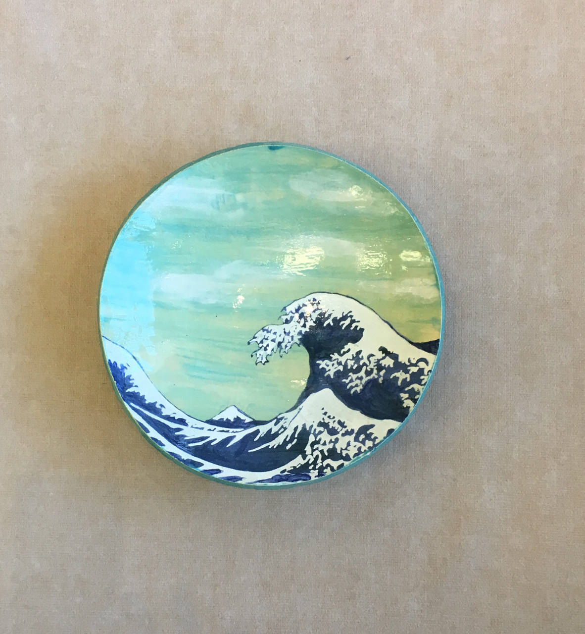 Ceramic Wave Bowl by Laurie Furumoto