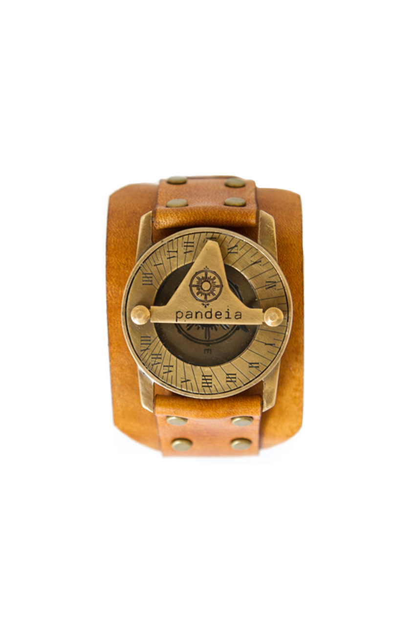 Honeycomb compass sundial watch