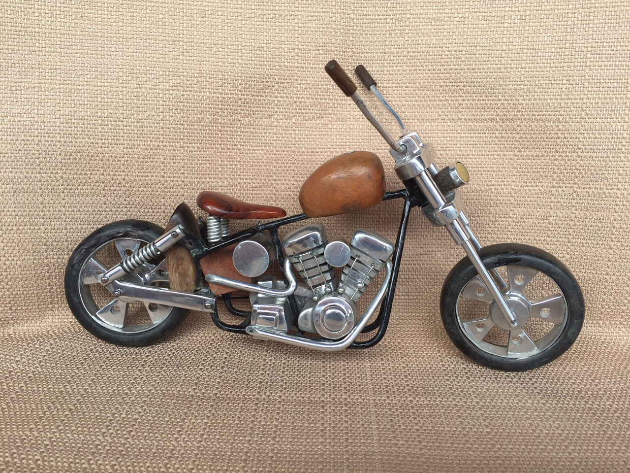 Chopper by Doug Miller wood and metal model
