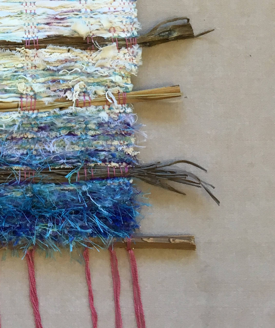 Winter Blue Detail by Ipo Kudlich weaving