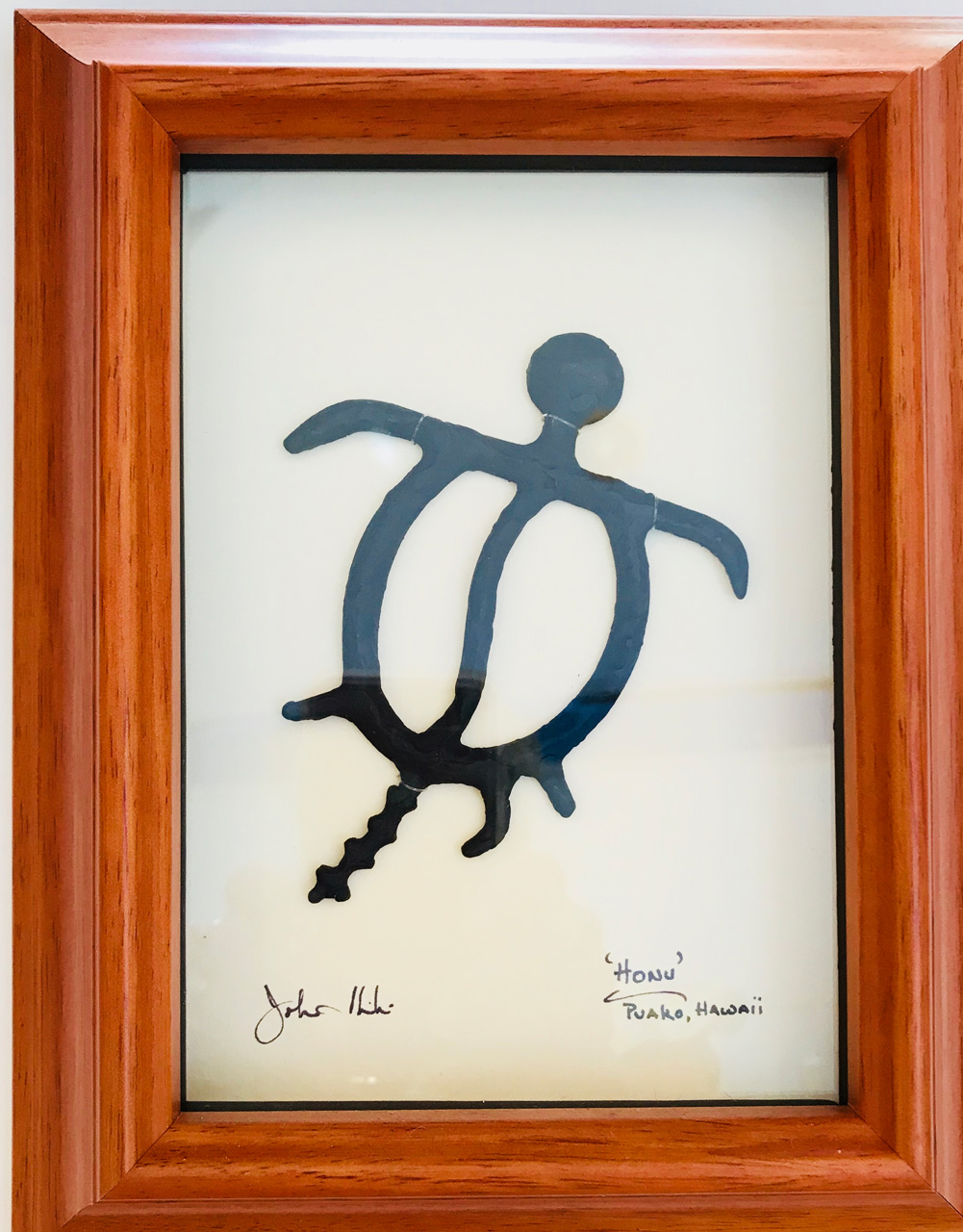 """Honu"" Bronze/Pewter Framed Shadowbox Sculpture by John Ilnicki"