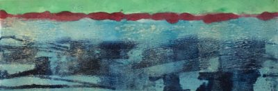 Horizontal Rectangle Monotype Blue and Green
