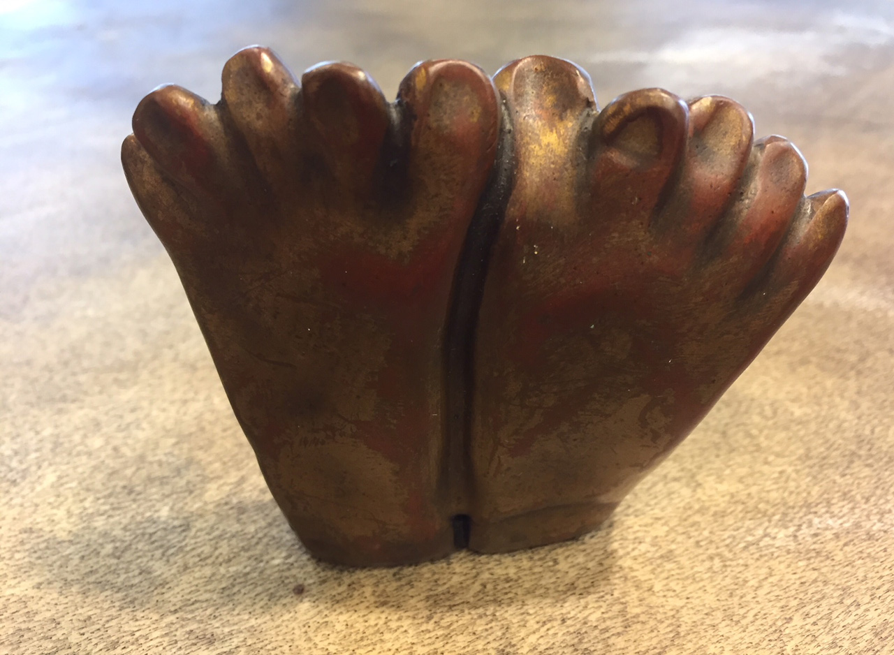 Cast Monk Feet Sculpture by Marylyn Holland