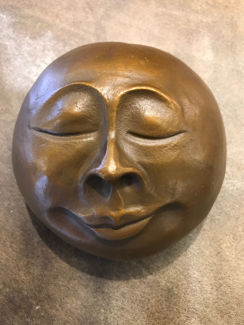 Cast Monk Bronze Face by Marylyn Holland