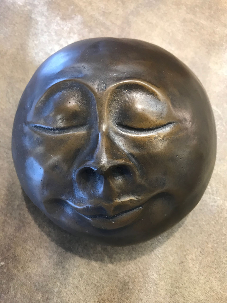 Cast Bronze Monk Face by Marylyn Holland
