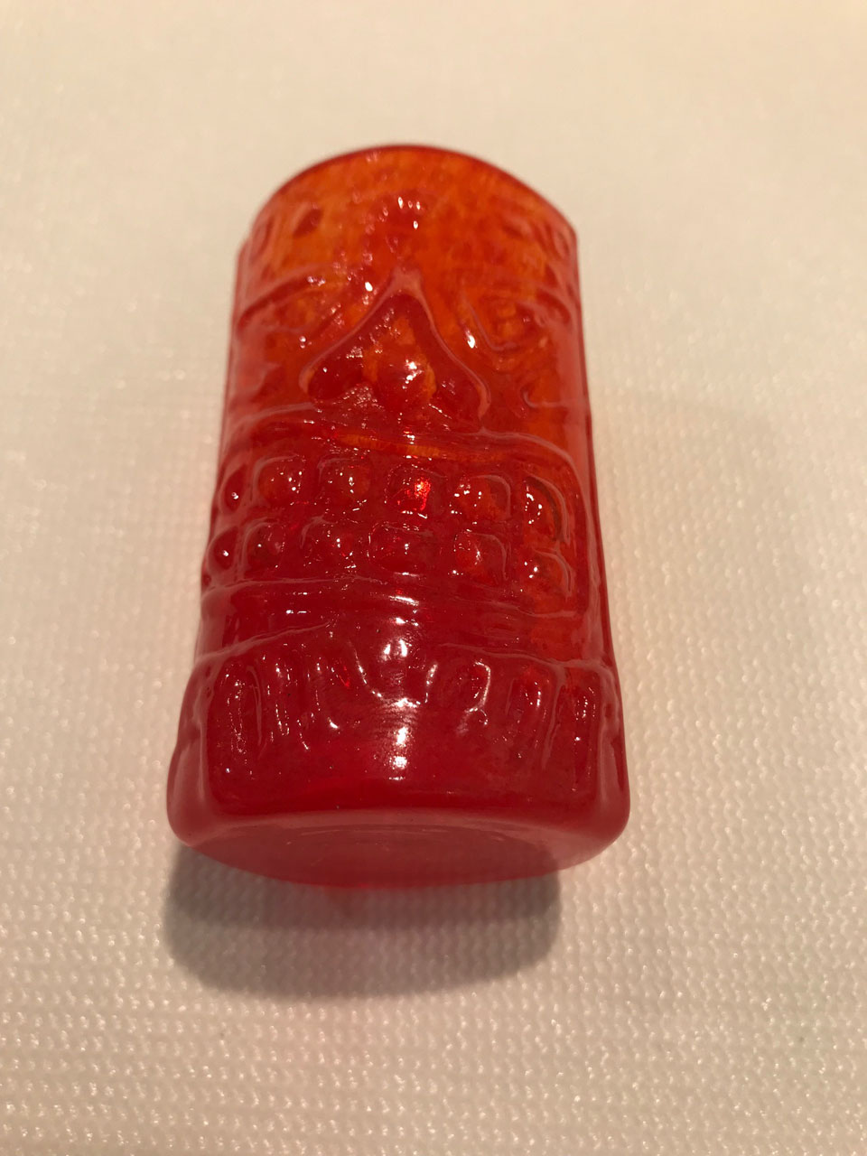 Orange Tiki Shot Glass by Mike McCain