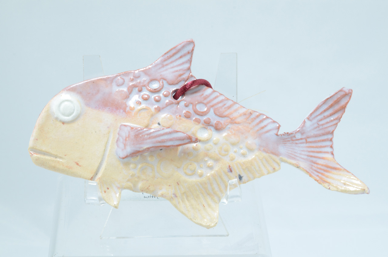 Small Papio by Michelle Espero decorative ceramic fish