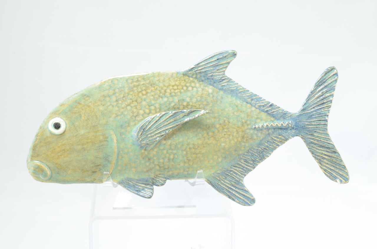 Large Papio by Michelle Espero decorative ceramic fish