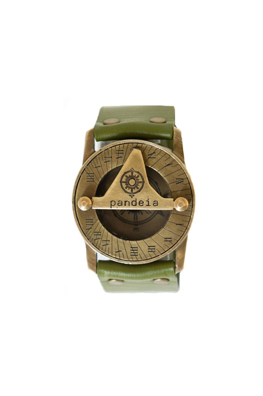 Moss compass sundial watch