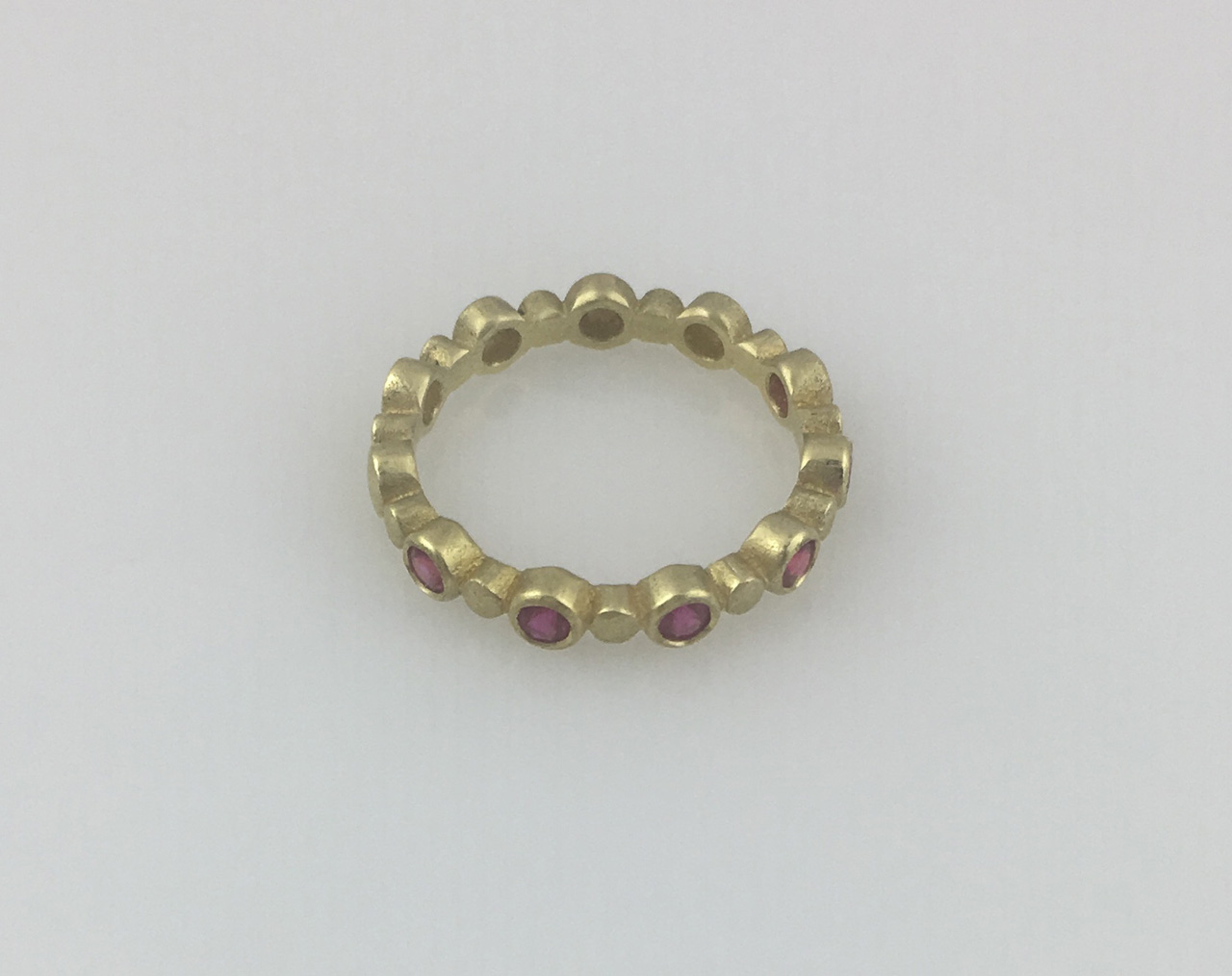 18K Ruby Stacker Ring