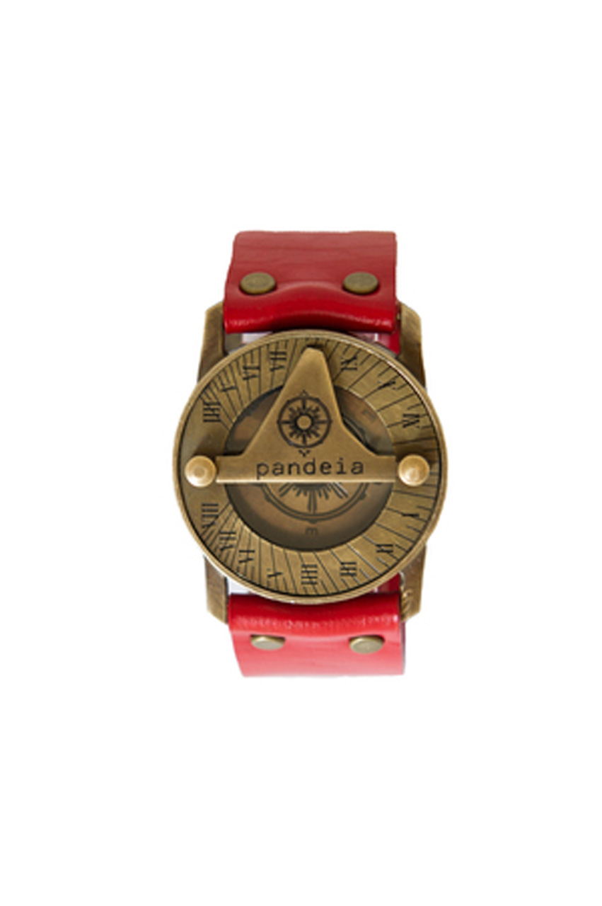 Ruby compass sundial watch