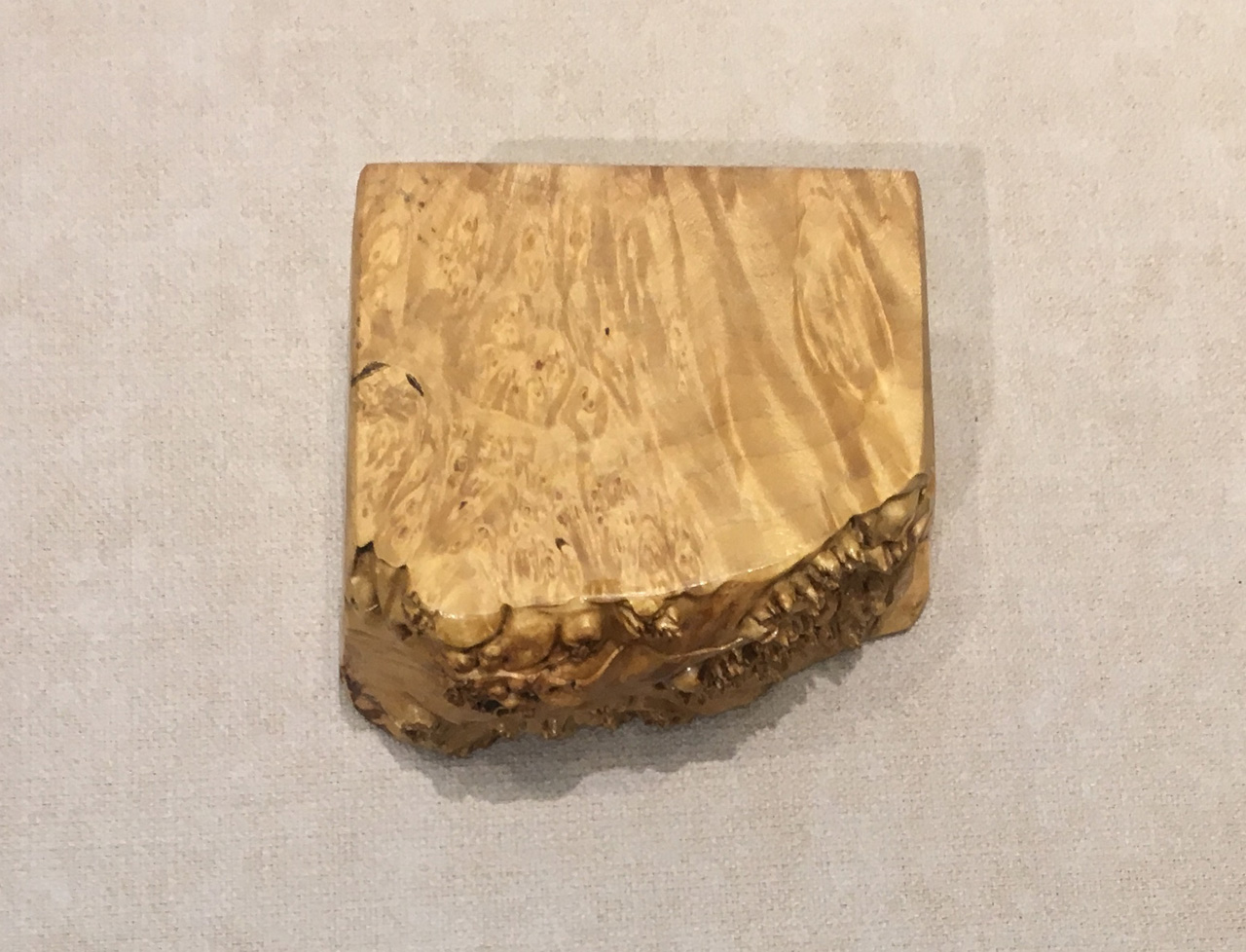 Box with Tray by Steve Kale with live edge top view