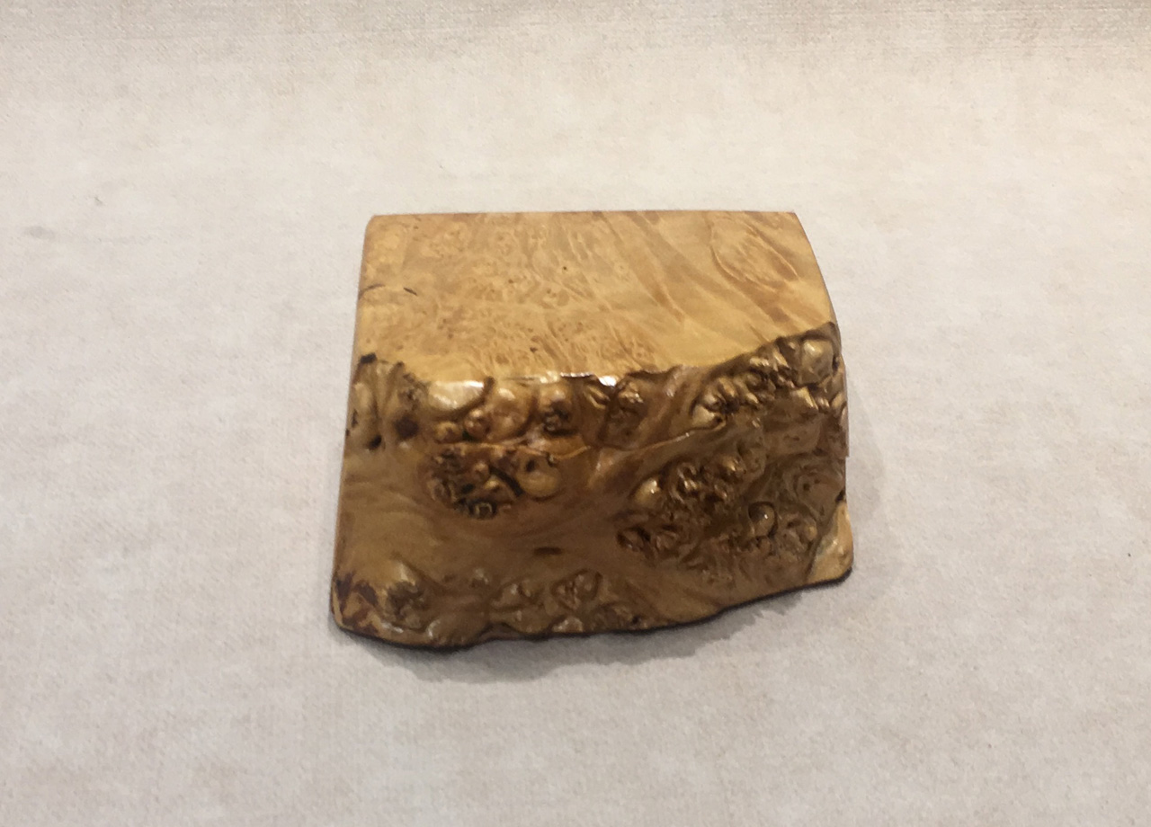 Box with Tray by Steve Kale with live edge