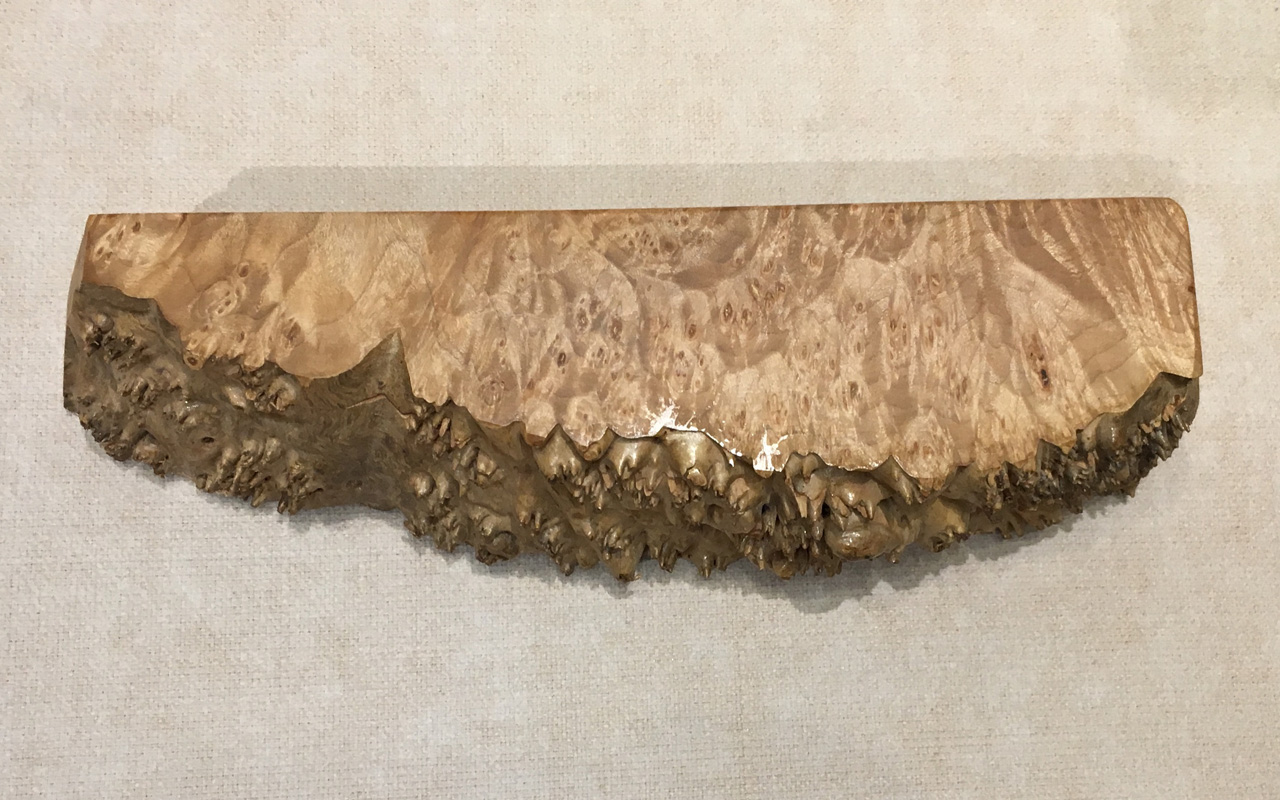 Burl Box with Tray by Steve Kale with live edge