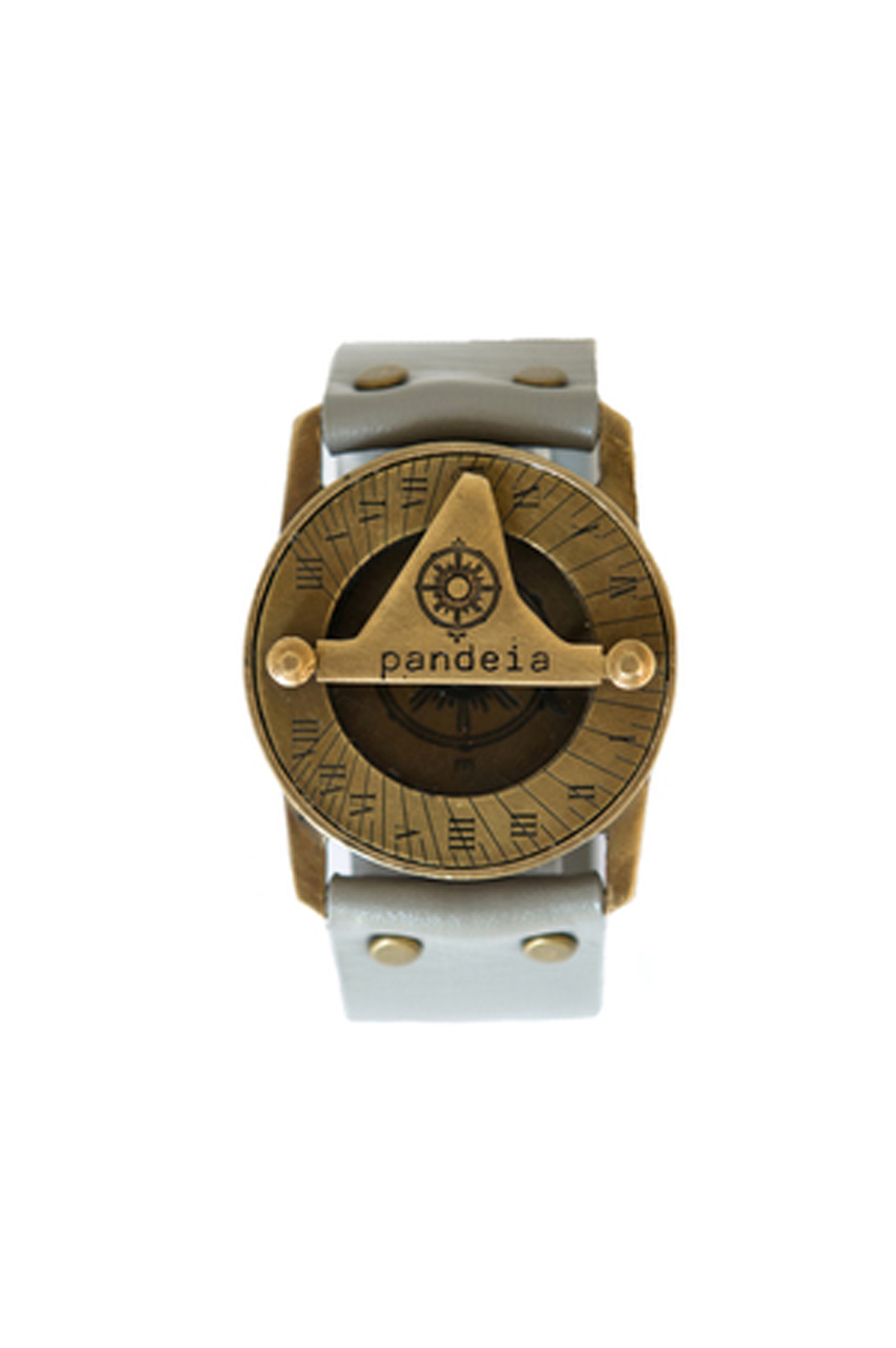 Stone compass sundial watch