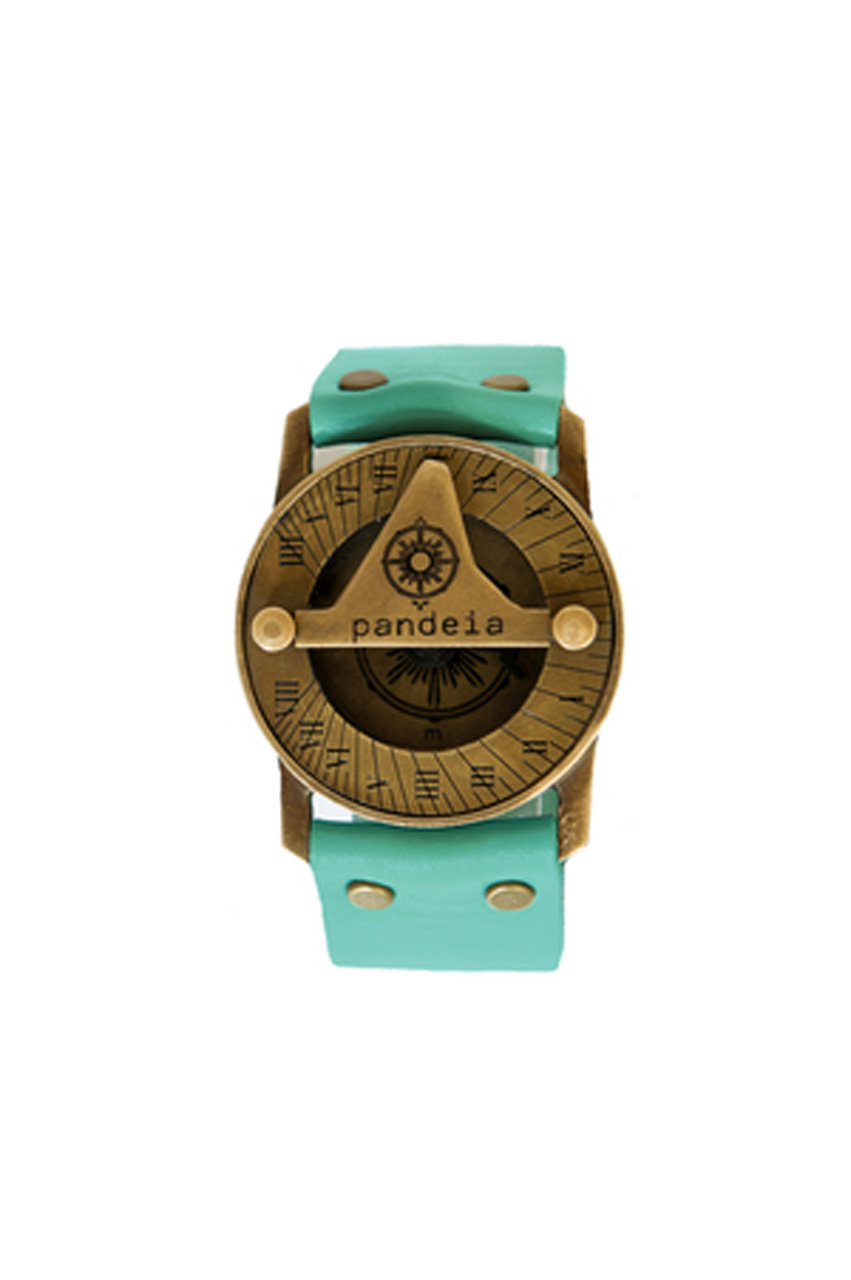 Aqua compass sundial watch