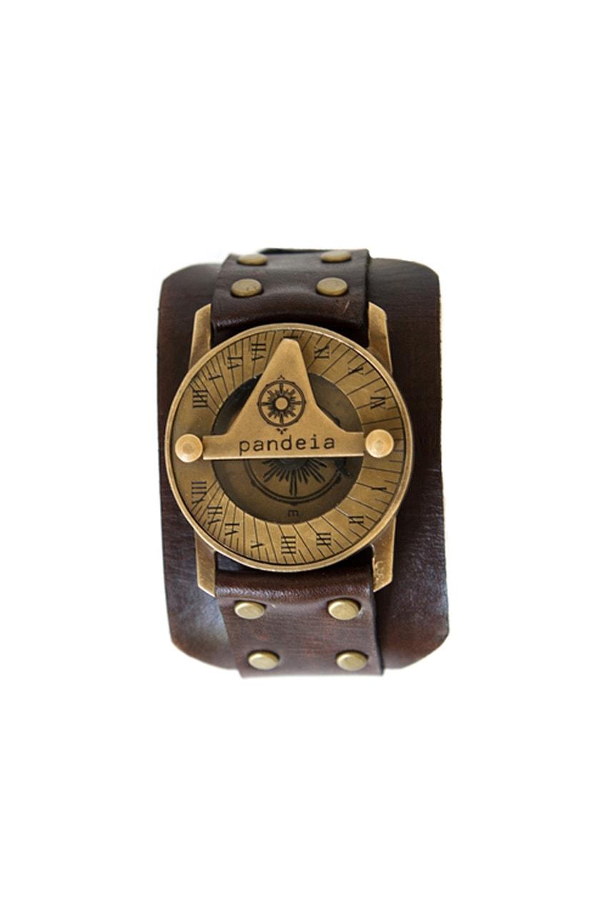 Compass sundial watch