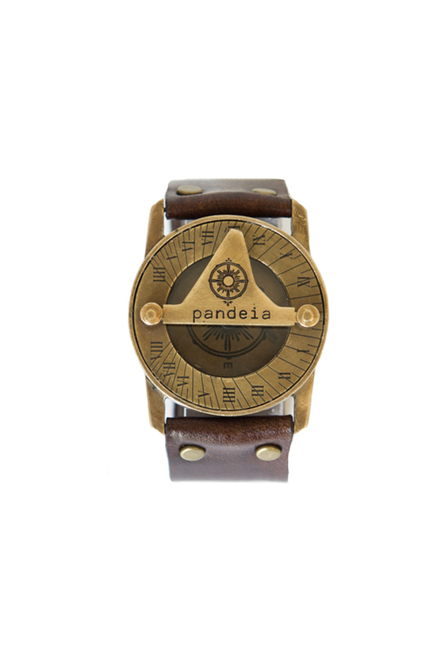Totem compass sundial watch