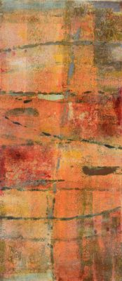Vertical Rectangle Monotype Red and Orange