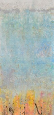 Vertical Rectangle Monotype Ligh Blue