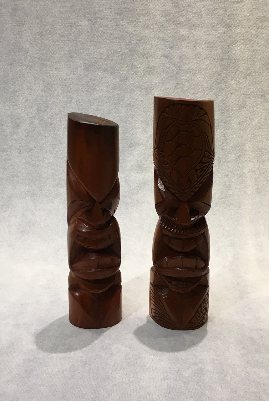 Large Tiki Pair by Folou Tupou and Pila Lavaka
