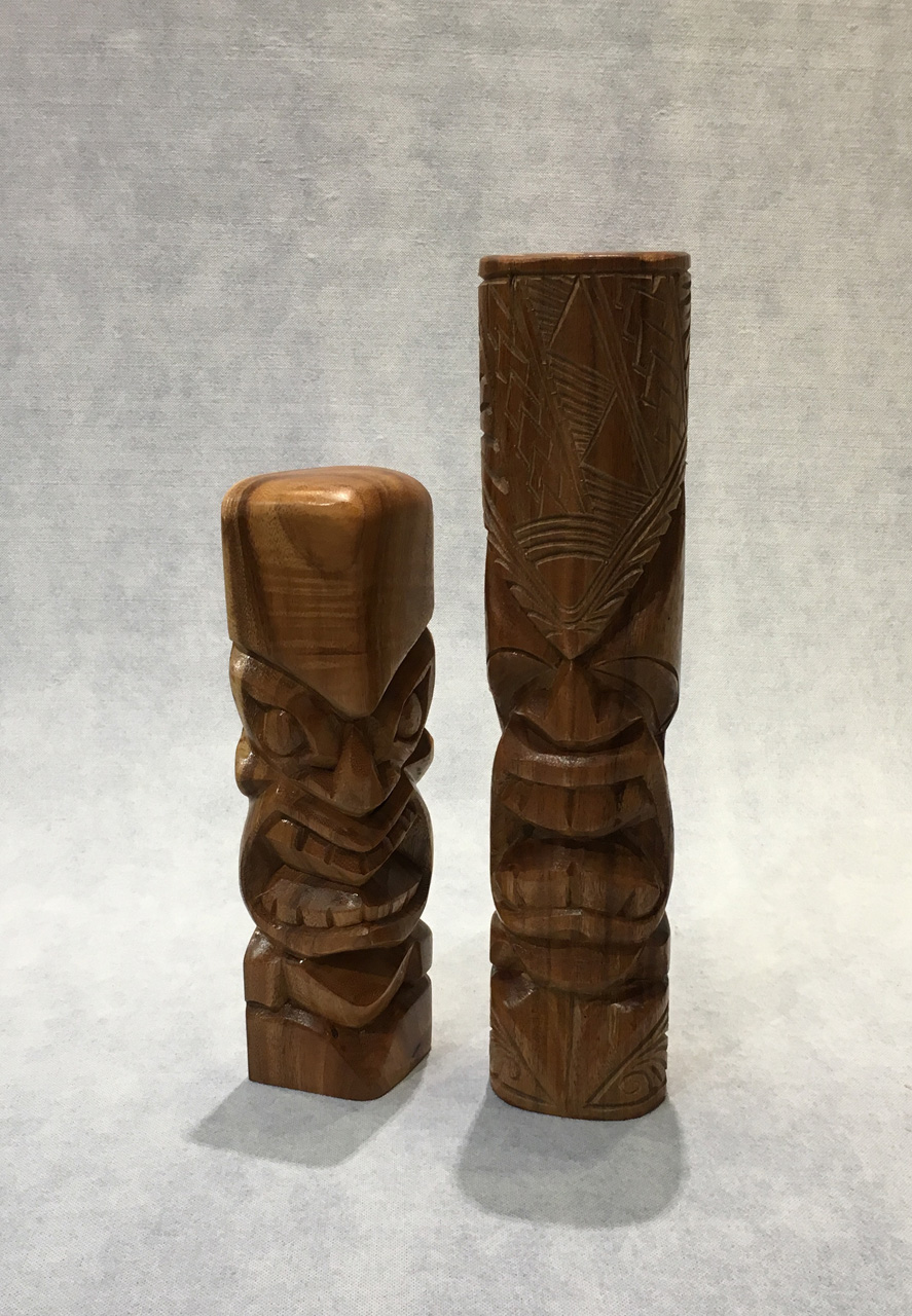 Extra Large Tiki Pair by Folou Tupou and Pila Lavaka