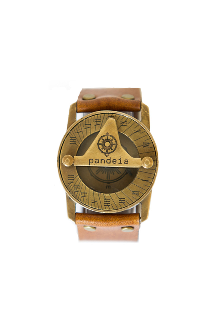 Whiskey compass sundial watch