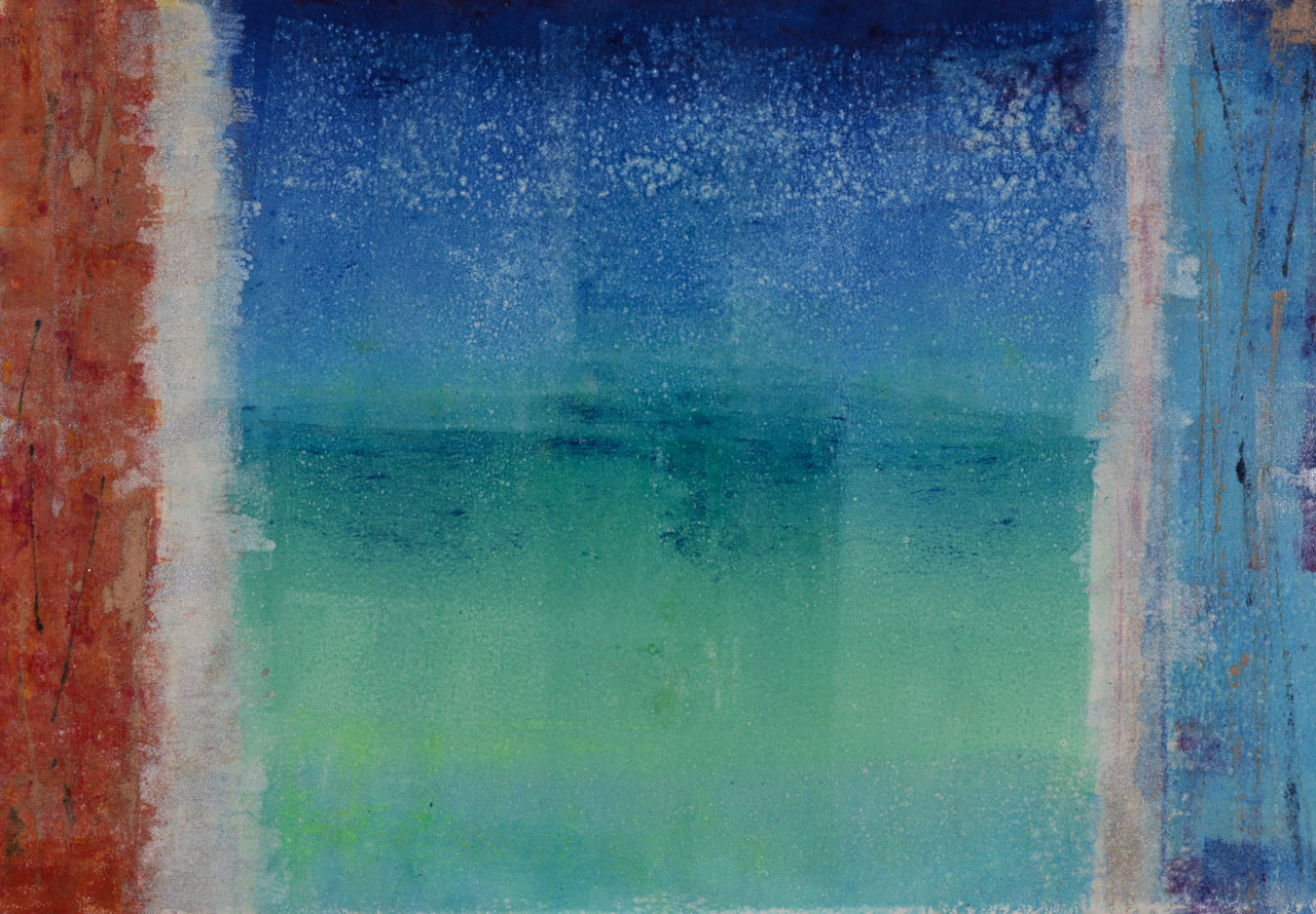 Rectangle Monotype Blue and Green