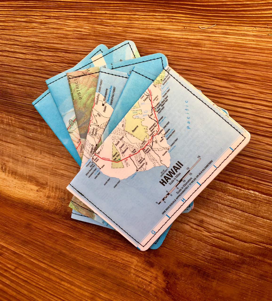 Big Island Map Wallets