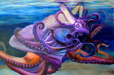 Embrace by Amanda Scott of woman embraced by octopus