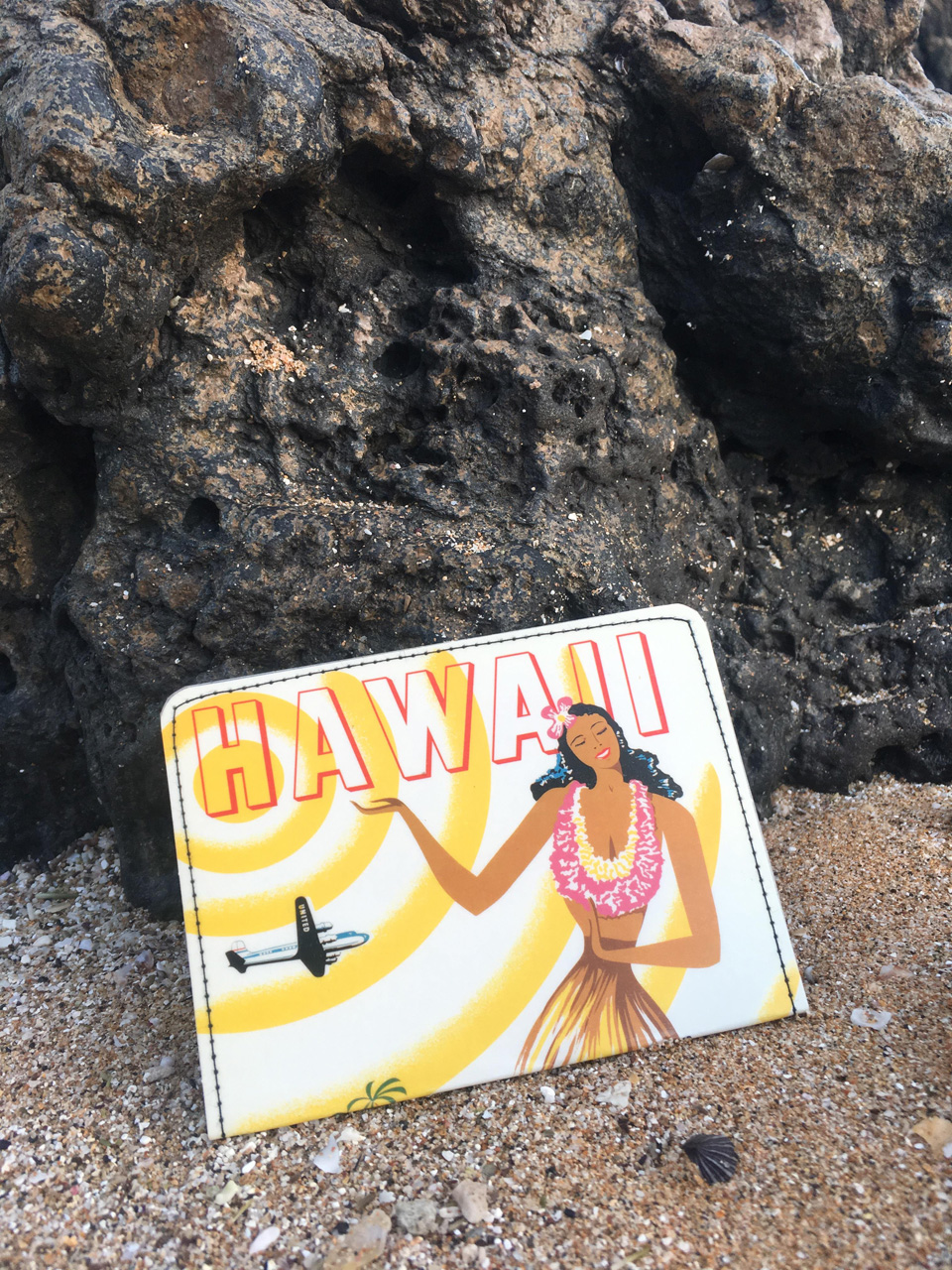 Hawaii United Airlines Postcard Wallet