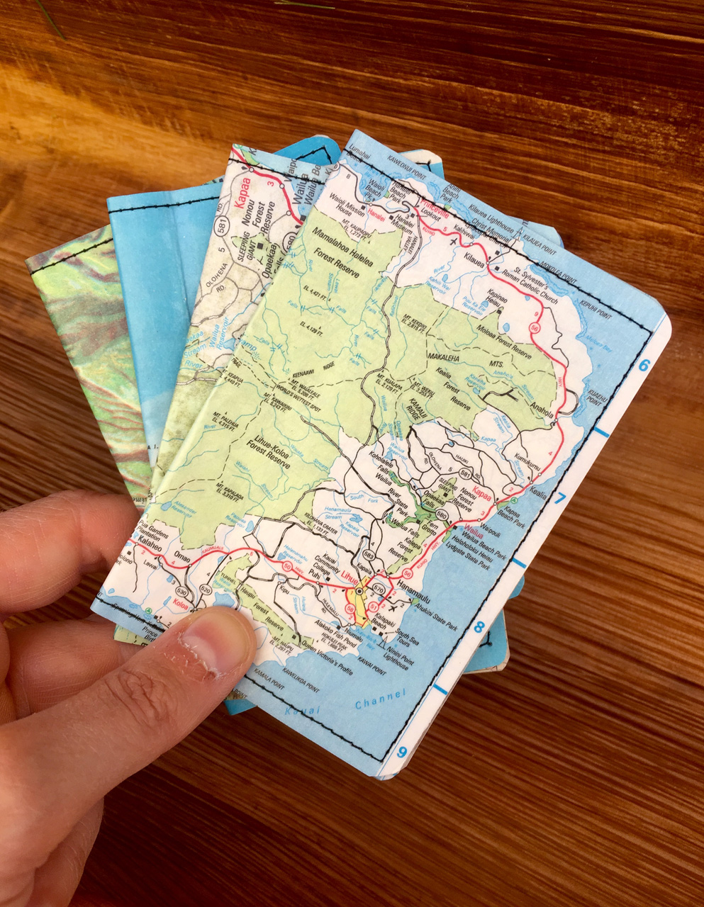 Kauai Map Wallets by Heather Simoni