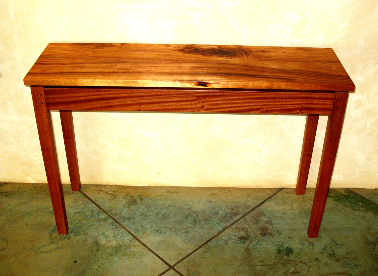 Koa Hall Table by Gary Forest
