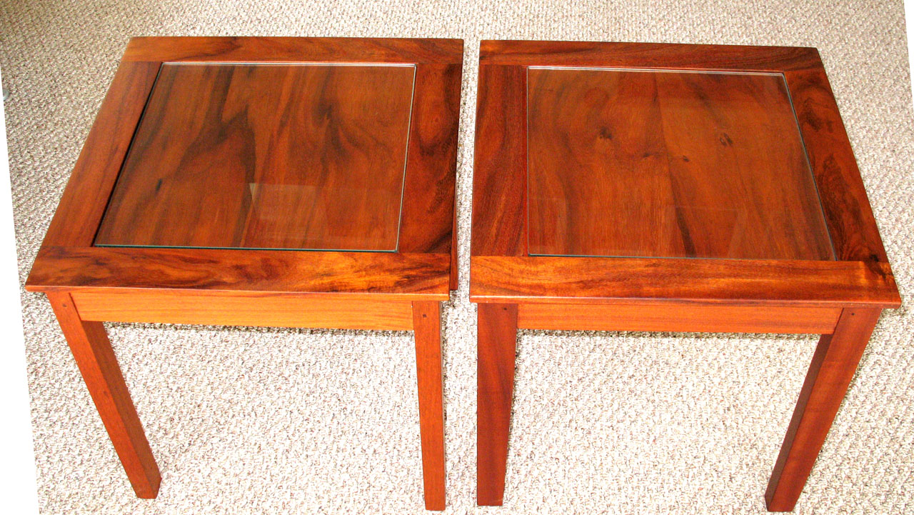 Koa End Tables by Gary Forest
