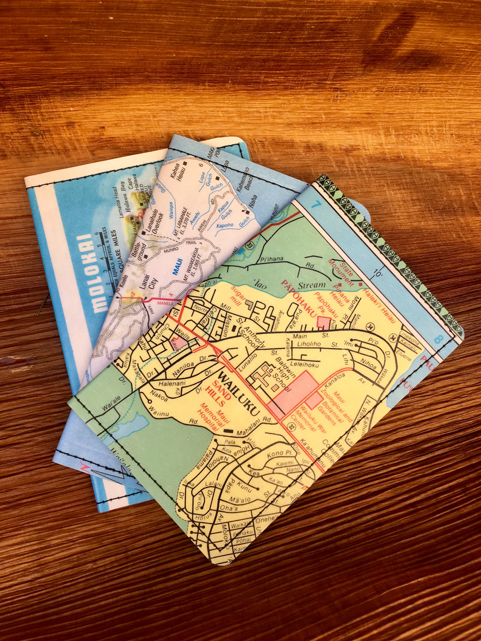 Maui County Map Wallets