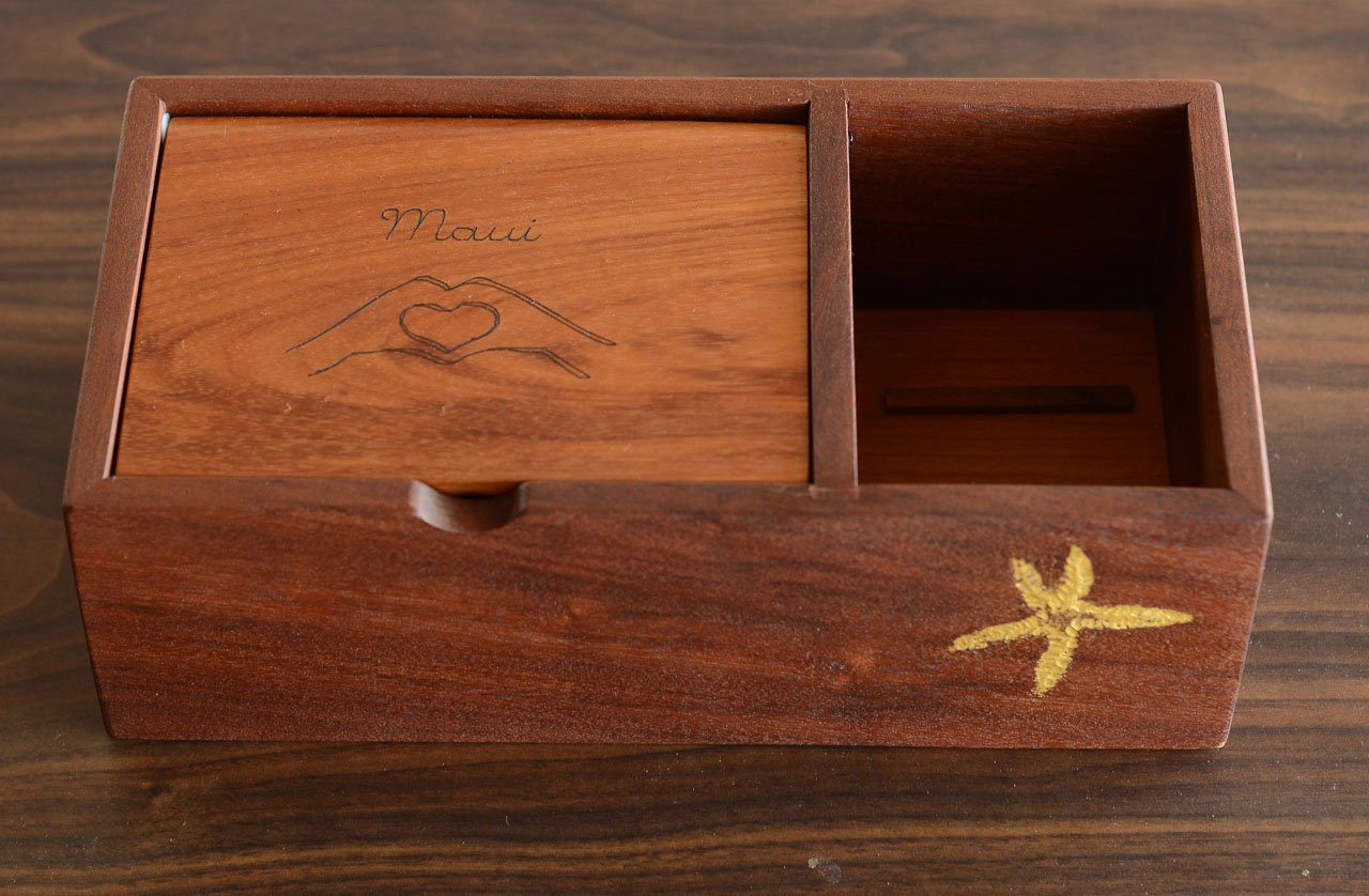 Maui Hands Heart Box by Gary Forest
