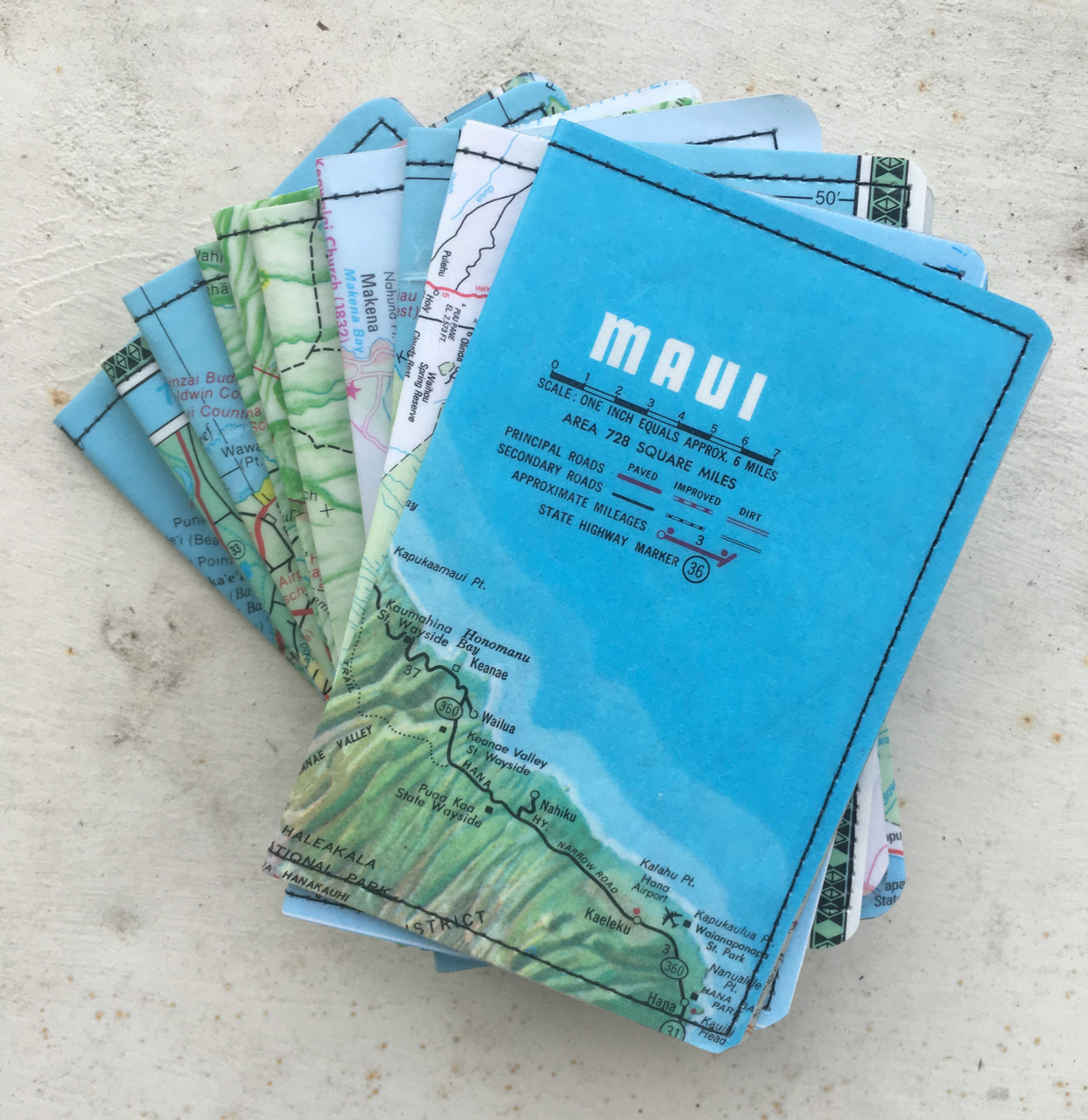 Maui Map Wallets