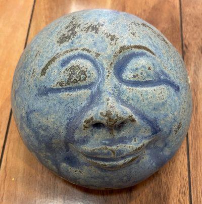 "Meditation Monk Face by Marylyn Holland - Blue, 4.5"" diameter - MAH126"