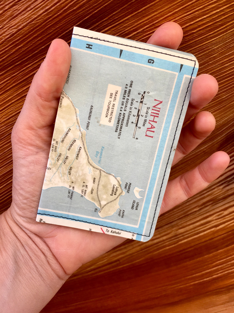 Ni'ihau Map Wallet