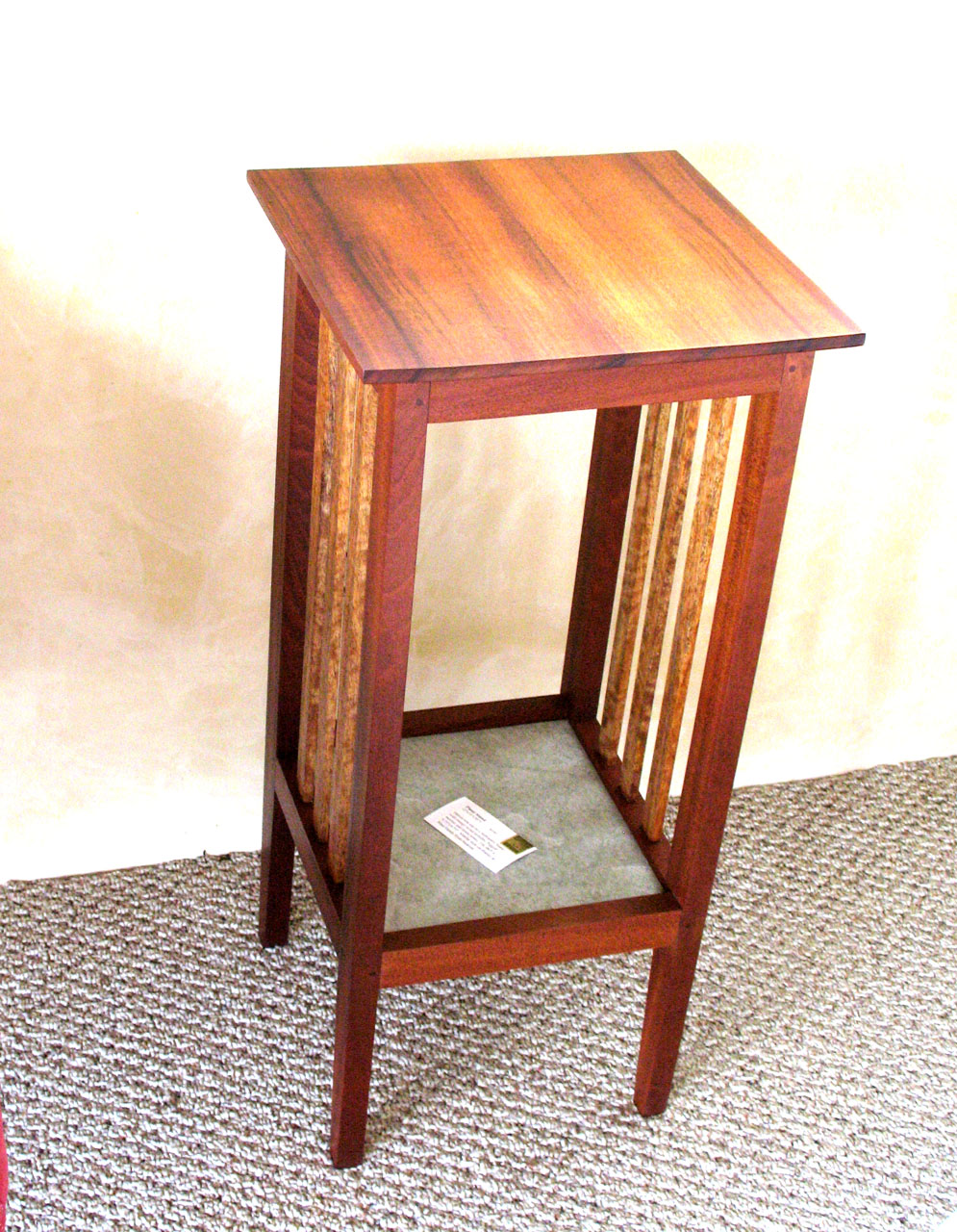 Wood Plant Stand by Gary Forest