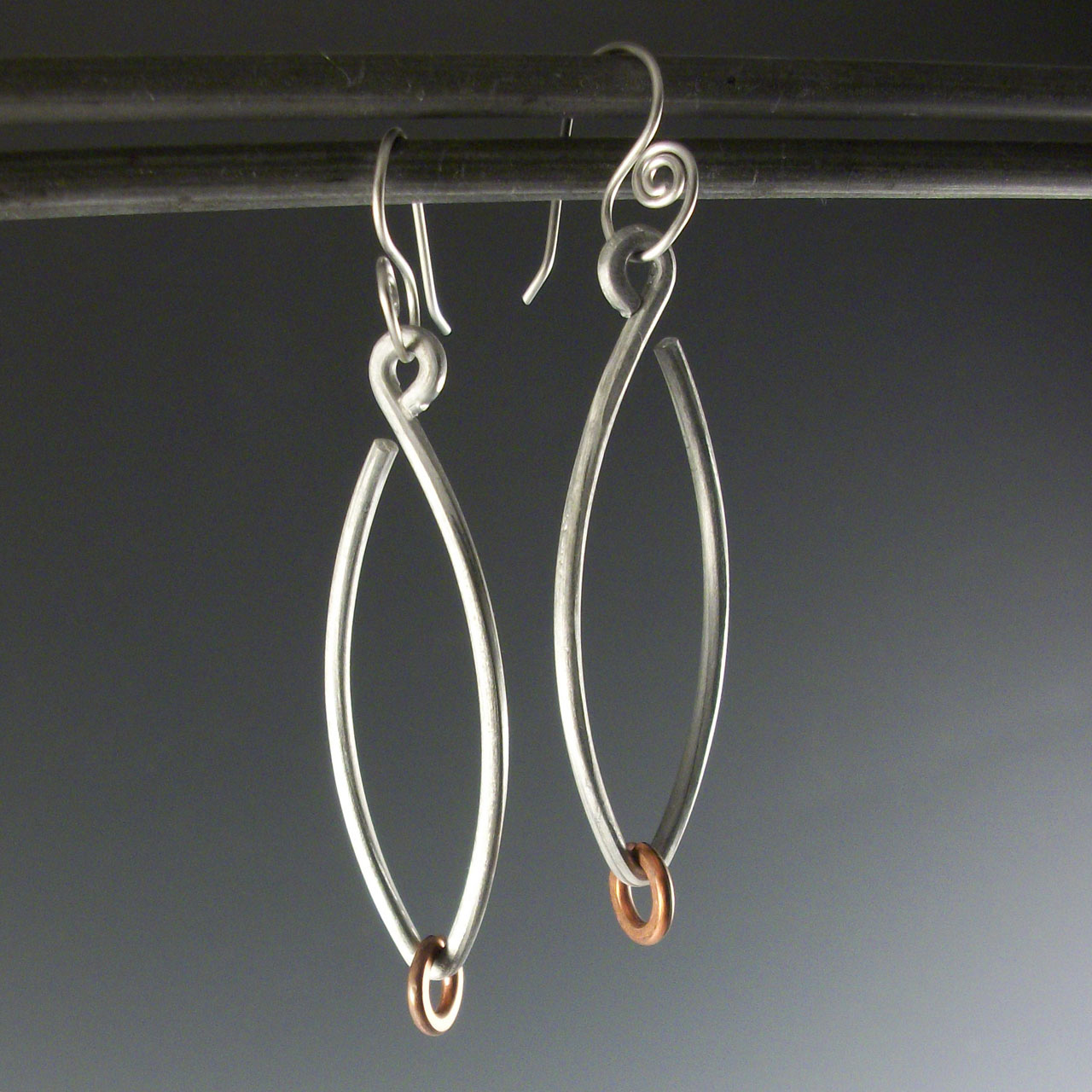 Aluminum Drips Earrings by Mckenna Hallett