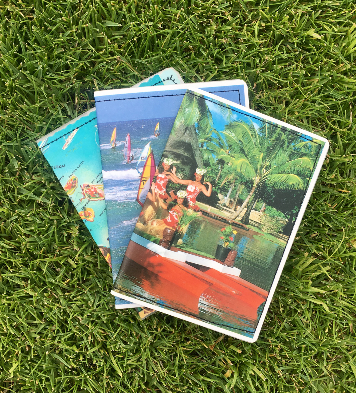 Vintage Maui Postcard Wallets