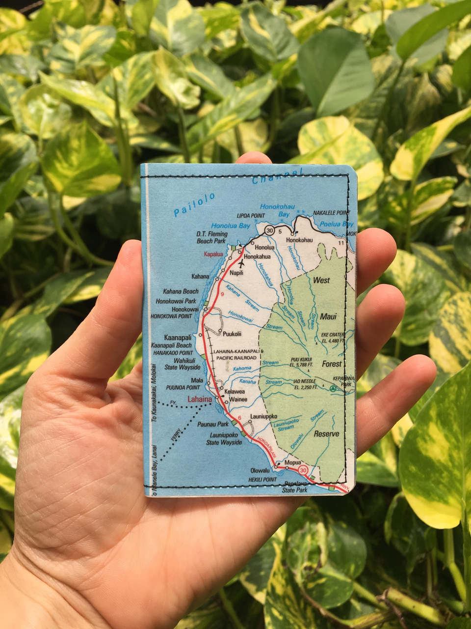 West Maui Map Wallet